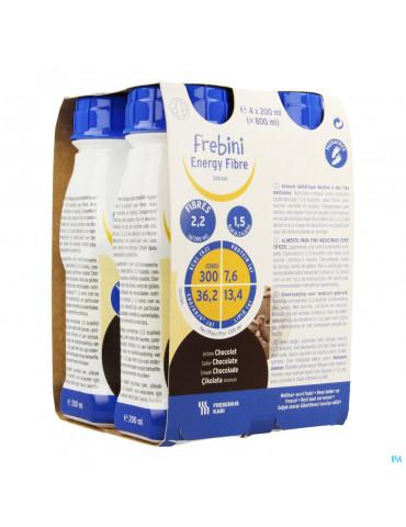 Frebini Energy Fibre Drink Enf Chocolat Fl 4x200ml
